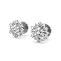 Diamond Studs 0.39 ct Natural Certified Solid Gold Designer Earrings