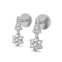 Diamond Earrings Studs 0.23 ct Natural Certified Solid Gold For Anniversary