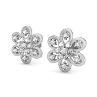Diamond Earrings 0.35 ct Natural Certified Solid Gold Designer Studs
