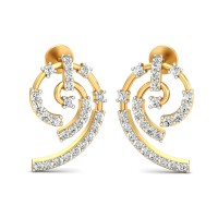 Diamond Earrings 0.54 Ct Natural Certified Solid Gold Office Wear