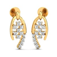 Gold Earrings 0.22 Ct Natural Certified DiamondVacation