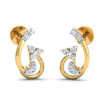 Diamond Earrings for Women 0.13 Ct Natural Certified Solid Gold Weekend
