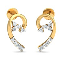 Diamond Earrings for Women 0.17 Ct Natural Certified Solid Gold Vacation