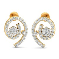 Diamond Earrings 0.78 Ct Natural Certified Solid Gold Special Occasion