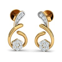 Diamond Earrings for Women 0.17 Ct Natural Certified Solid Gold Festive