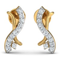 Diamond Earrings for Women 0.11 Ct Natural Certified Solid Gold Weekend