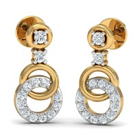 Designer Earrings 0.22 Ct Natural Certified Diamond Solid Gold Office Wear