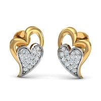 Diamond Earrings 0.17 Ct Natural Certified Solid Gold Vacation
