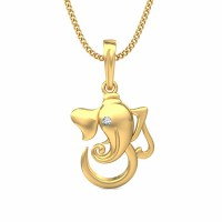 Gold Pendant Necklace 0.015 ct Diamond Solid 2 Tone Gold Natural Certified