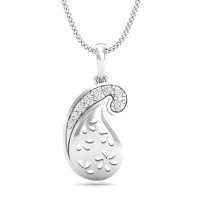 Fine Necklace & Pendant 0.1 ct Diamond Solid Gold Wedding Natural Certified