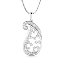 White Gold Diamond Pendant 0.26 ct Solid Gold Natural Certified