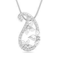 Diamond Pendant 0.21 ct Solid Gold Gift For Her Natural Certified