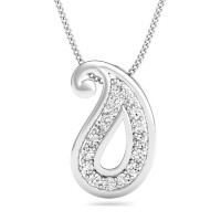 Pendant Necklace 0.24 ct Solid Gold Anniversary Gift Natural Certified