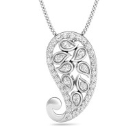 Diamond Necklace & Pendant 0.23 ct Solid Gold Natural Certified