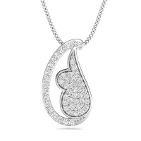 Diamond Pendant Charms 0.3 ct Solid Gold Necklace Natural Certified