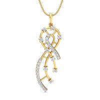 Diamond Pendant 0.5 Ct Natural Certified Solid Gold Vacation
