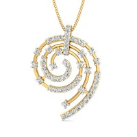 Diamond Pendant Necklace 0.69 Ct Natural Certified Solid Gold Weekend