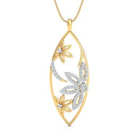 Diamond Pendant 0.71 Ct Natural Certified Solid Gold Workwear