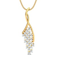 Gold Pendant 0.22 Ct Natural Certified Diamond Vacation