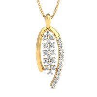 Diamond Pendant Necklace 0.27 Ct Natural Certified Solid Gold Everyday