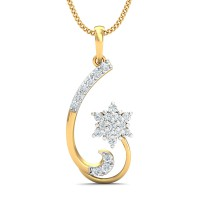 Diamond Pendant Charms 0.24 Ct Natural Certified Solid Gold Weekend
