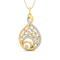 Diamond Pendant Charms 0.42 Ct Natural Certified Solid Gold Everyday