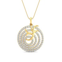Diamond Pendant Charms 1.1 Ct Natural Certified Solid Gold Workwear
