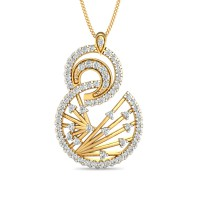 Diamond Pendant 0.73 Ct Natural Certified Solid Gold Office Wear