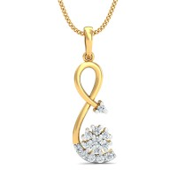 Diamond Pendant Necklace 0.25 Ct Natural Certified Solid Gold Office Wear