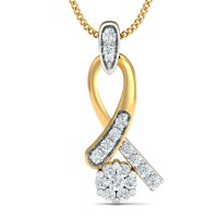 Diamond Necklace & Pendant 0.24 Ct Natural Certified Solid Gold Special Occasion