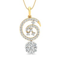 Diamond Pendant 0.7 Ct Natural Certified Solid Gold Festive