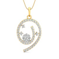 Diamond Pendant Necklace 0.84 Ct Natural Certified Solid Gold Party