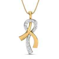 Gold Pendant 0.12 Ct Natural Certified Diamond Weekend