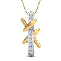 Diamond Pendant Necklace 0.11 Ct Natural Certified Solid Gold Office Wear