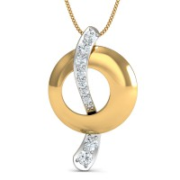 Diamond Pendant Charms 0.1 Ct Natural Certified Solid Gold Special Occasion