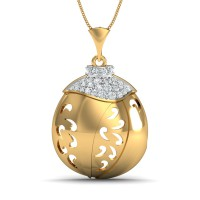 Diamond Pendant 0.16 Ct Natural Certified Solid Gold Vacation