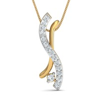 Diamond Pendant Necklace 0.11 Ct Natural Certified Solid Gold Weekend