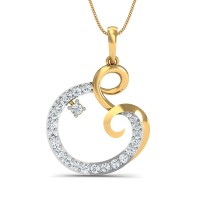 Fine Necklace & Pendant 0.27 Ct Natural Certified Diamond Office Wear