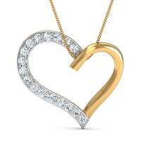 Diamond Pendant 0.21 Ct Natural Certified Solid Gold Office Wear