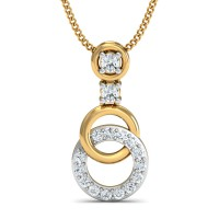 Diamond Pendant Charms 0.14 Ct Natural Certified Solid Gold Office Wear