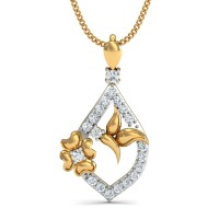 Diamond Necklace & Pendant 0.15 Ct Natural Certified Solid Gold Special Occasion