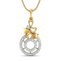 Diamond Pendant 0.22 Ct Natural Certified Solid Gold Designer Party