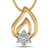 Diamond Pendant 0.13 Ct Natural Certified Solid Gold Party
