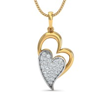 Gold Pendant Necklace 0.17 Ct Natural Certified Diamond Everyday