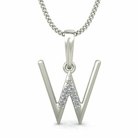 diamond initial Necklace 0.04 ct Solid Gold Pendant Natural Certified