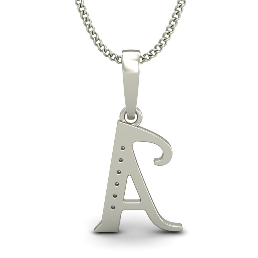 Diamond initial charms 004ct solid gold pendant necklace natural diamond initial charms 004 ct solid gold pendant necklace natural certified aloadofball Image collections