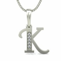 Personalized Jewelry 0.03 ct Diamond Solid Gold Pendant Natural Certified