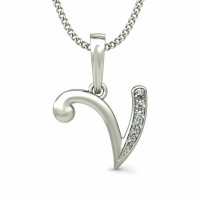 Diamond Letter Necklace 0.04 ct Solid Gold Personalized Jewelry Natural Certified