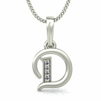 Diamond Initial Pendant 0.02 ct Solid Gold Initial Charms Natural Certified
