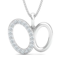 Diamond Pendant Necklace 0.22 Ct Natural Certified Solid Gold Everyday